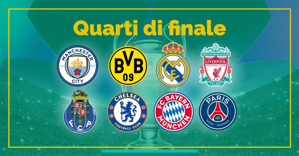 Quarti di finale di Champions League, la statistica di Sbostats