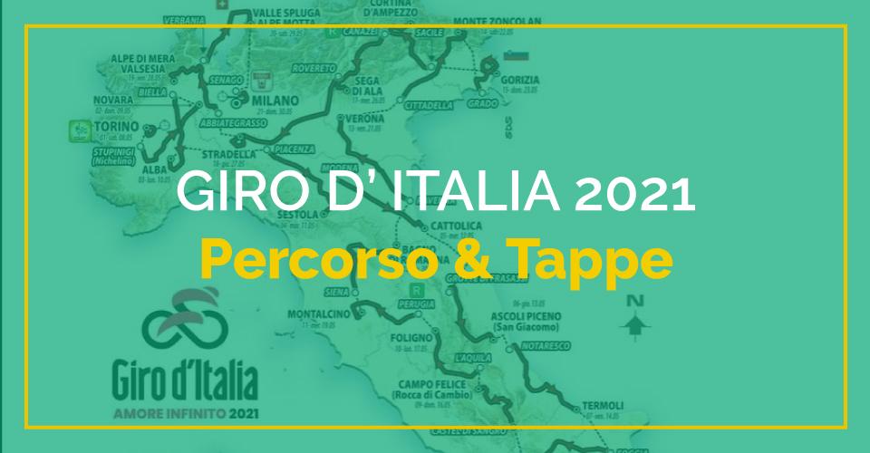 Giro d'Italia 2021: tutte le tappe del percorso
