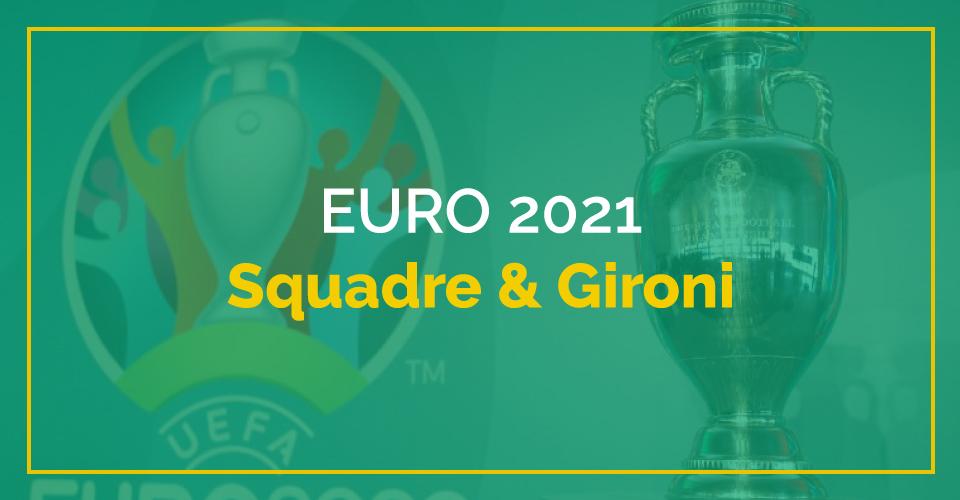 Campionati europei 2021, squadre e gironi
