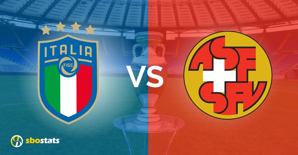 Euro 2021, la preview di Sbostats su Italia – Svizzera