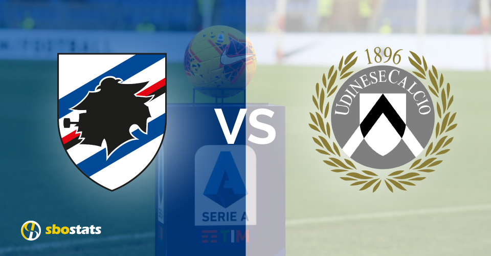 Sampdoria – Udinese, statistiche e pronostico di Sbostats